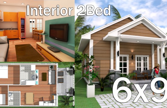 Interior Low Budget Home Plan 6×9 Meter
