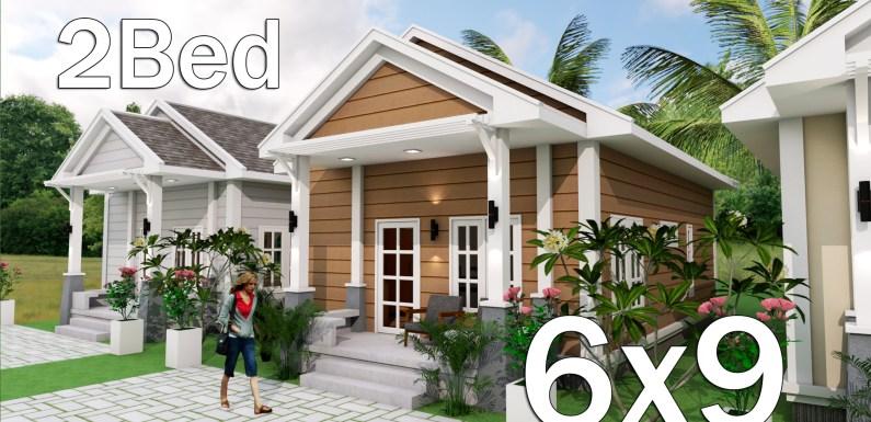 Low Budget Home Plan 6×9 Meter 2 Bedrooms