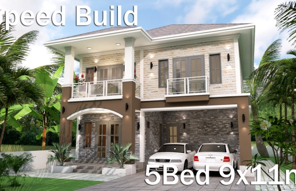 Home Plan 9×11 Meter 5 Bedrooms