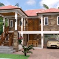 5 Bedrooms Home Design Plan 9x10m