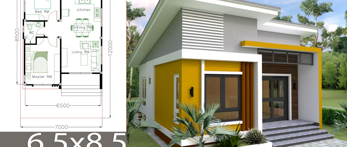 Small Home design Plan 6.5x8.5m with 2 Bedrooms - SamPhoas Plan on home building plans, home decorating, bathroom plans, home design planning, home design projects, commercial architecture plans, home energy plans, floor plans, home architecture plans, home design games, garden plans, home modern house design, home design software, home design tips, home hardware plans, home design principles, home design story, construction plans, house plans, engineering plans,