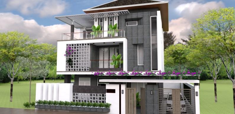 3D Home Design Plan 15x15m