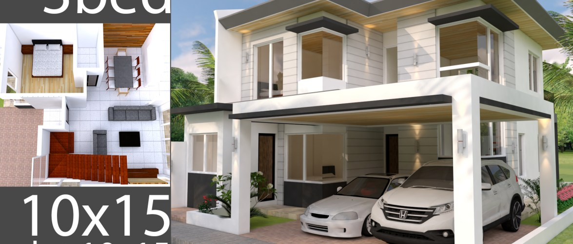 Plan 3D Home Design Plan 10x15m Full Plan 3Beds