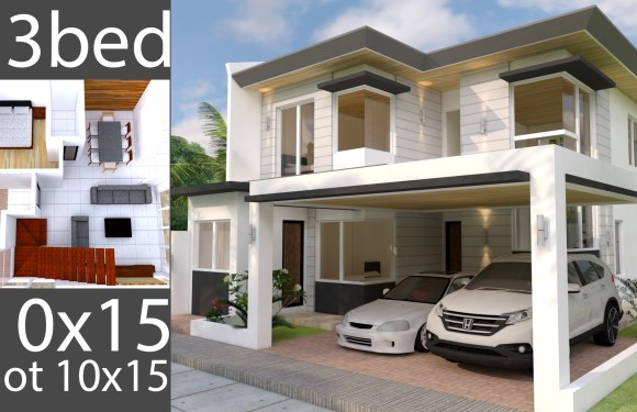Plan 3D Home Design Plan 10x15m Full Plan 3Beds