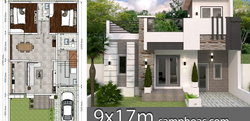 Interior Home Design Plan 9x12m 2 Bedrooms