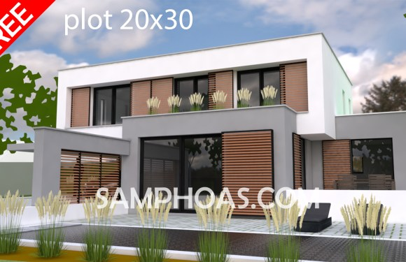 Sketchup Model Exterior House design Idea 3d house plan 20x30m