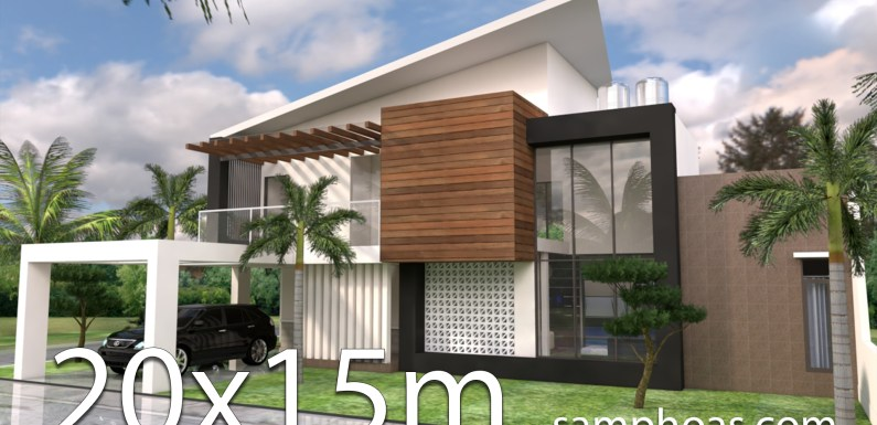 Plan 3d Home Design 15x20m 5 Bedrooms