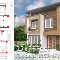Home Design Plan 6.5x7.5M 2 Bedrooms A2