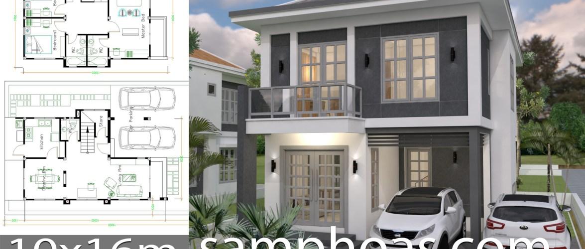 House Plans With Interior Design Plot 10x16m
