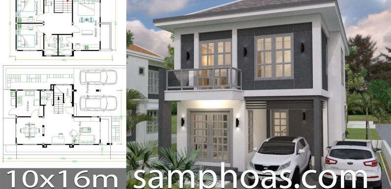 House Plans With Interior Design Plot 10x16m
