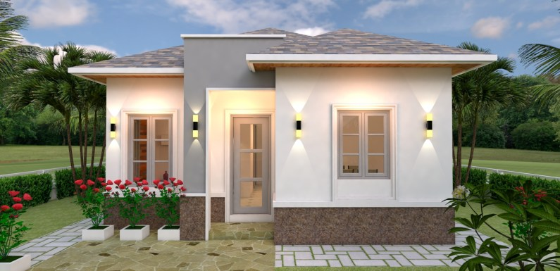 House Plans 7×10 with 3 Bedrooms