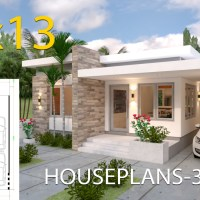 House Design plans 10x13 with 3 Bedrooms Full Plans