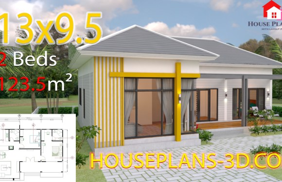 House Design Plans 13×9.5 with 2 Bedrooms