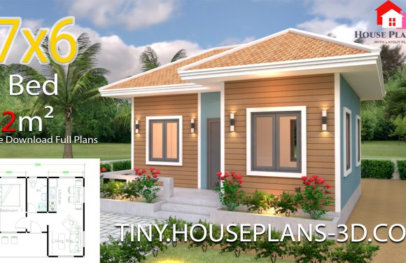 House Plans 7×6 with One Bedroom Hip Roof