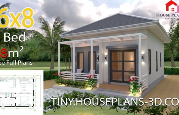 Studio Room House Plans 6×8 Hip Roof
