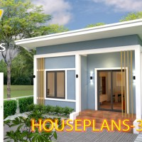 House Plans 6x7 with 2 bedrooms Shed Roof