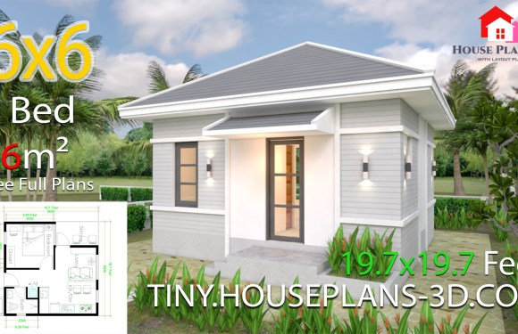 House Plans 6×6 with One Bedroom Hip Roof