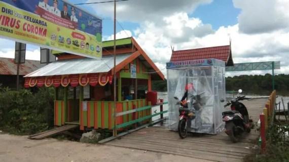 Desa Terantang Pasang Bilik Disinfektan di Pintu Masuk, Cegah Pandemi Corona