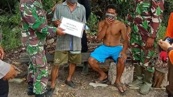 Polsek Sungai Sampit Berikan Teguran Kepada Masyarakat Yang Tidak Mengikuti Protokol Kesehatan