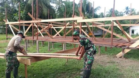 Pembangunan Pos Terpadu Tahap Penyiapan Lantai