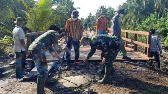TMMD ke-109 Kodim 1015 Sampit Akan Segera Berakhir, Warga Desa Mengaku Sedih