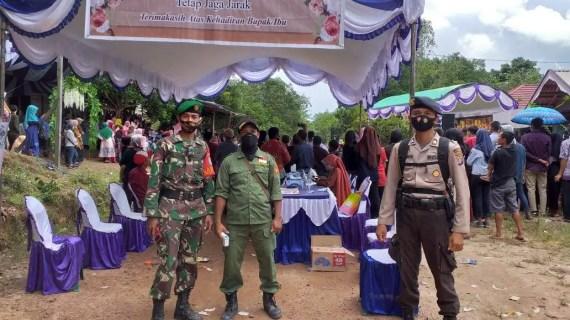 Polsek Mentaya Hulu Lakukan Pengamana Kampanye di Desa Tanjung Bantur