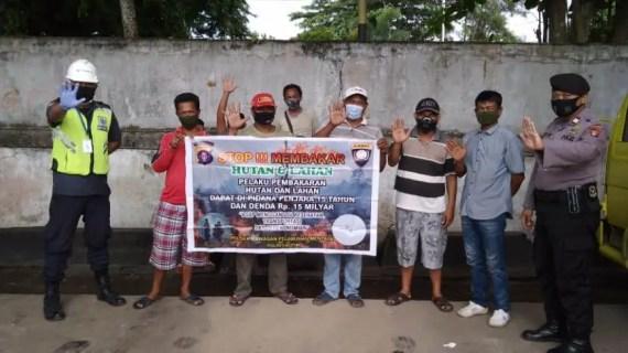 Polsek Kawasan Pelabuhan Mentaya Sosialisasikan Maklumat Kapolda Kalteng