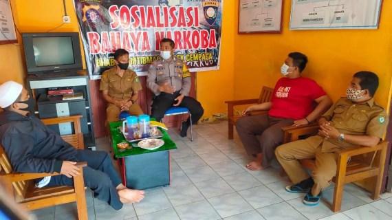 Bhabinkamtibmas Desa Sungai Paring Sosialisasikan Bahaya Narkoba