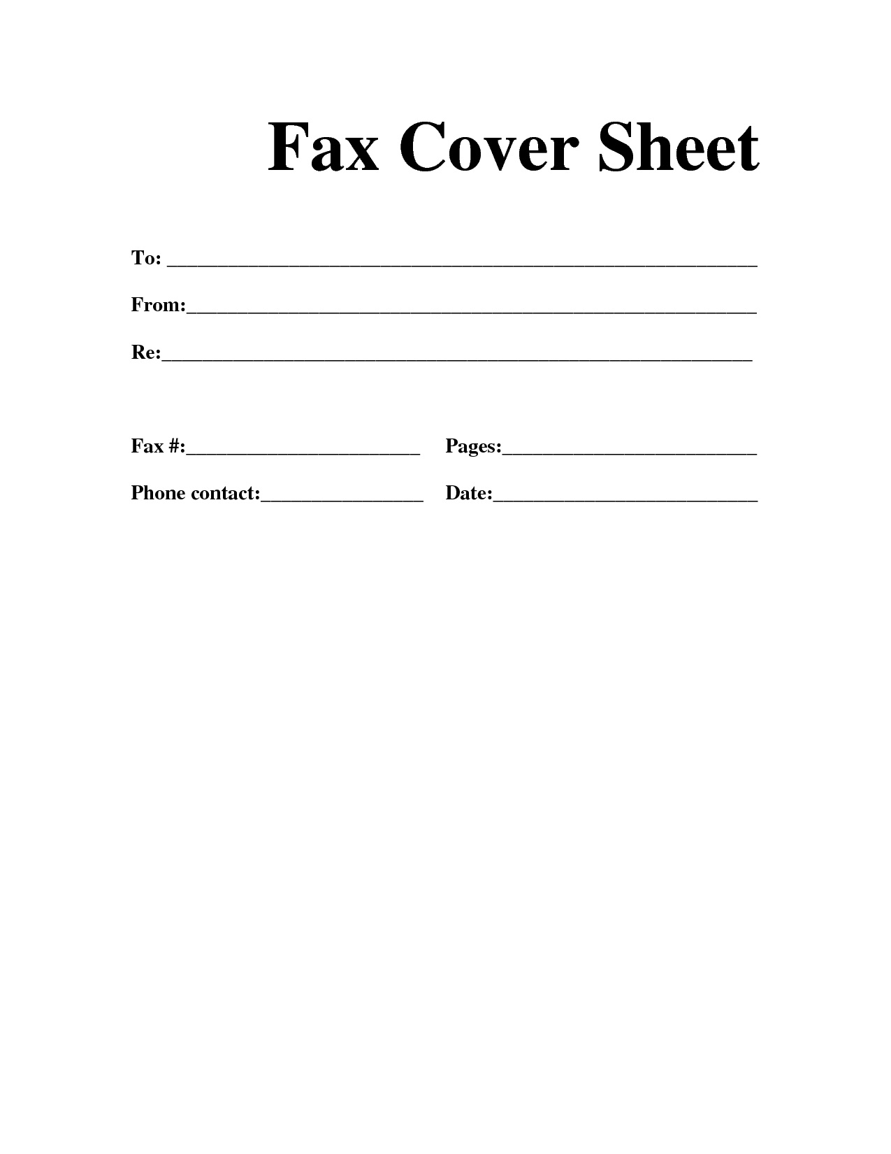 Resume Cover Sheet Format Blank Fax Cover Letter Sheets For Fax Cover Sheet Resume