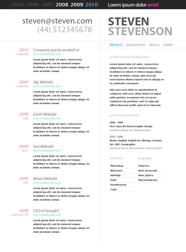 10 Sample Google Docs Resume Template