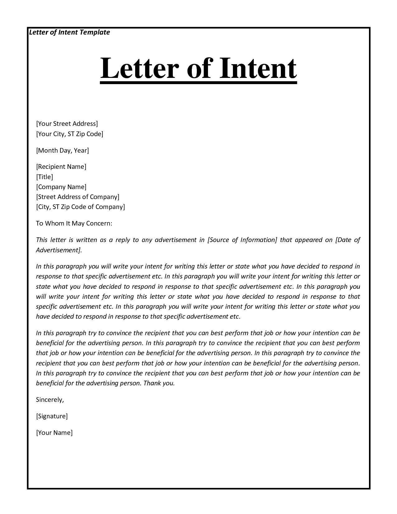 10 How to Write a Letter of Interest Format  SampleBusinessResumecom  SampleBusinessResumecom