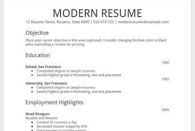 acting resume template google docs - Template
