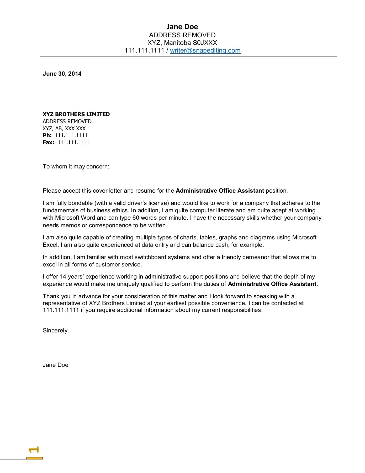 Hyperlink Email In Resume 10 Perfect Resume Administrative Assistant Cover Letter