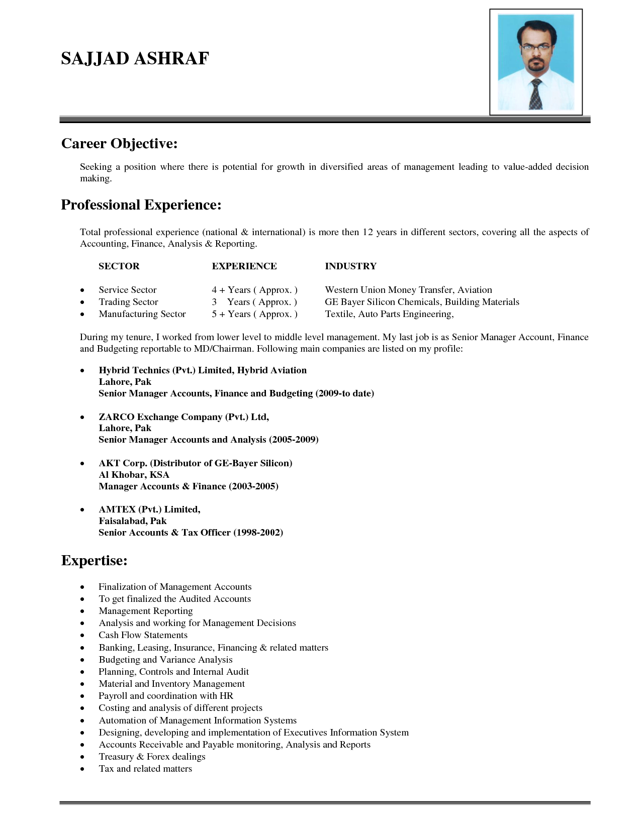 Objective Career For Resume. Professional Objective For Resume ...