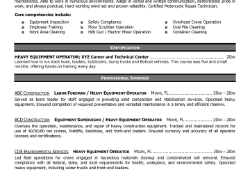 Construction Equipment Manager Cover Letter Sarahepps