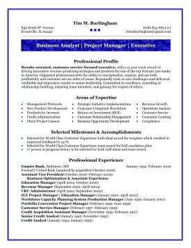 Business Analyst Business Analyst Resume Templates