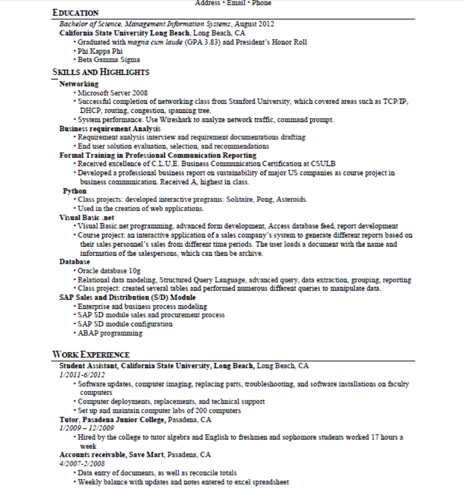 resume examples skills list examples of resumes