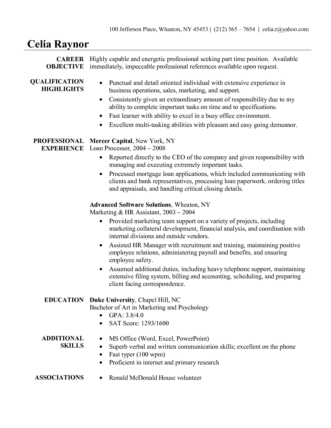 Certified Medical Assistant Resume Sample 10 Sample Resume For Medical Administrative Assistant