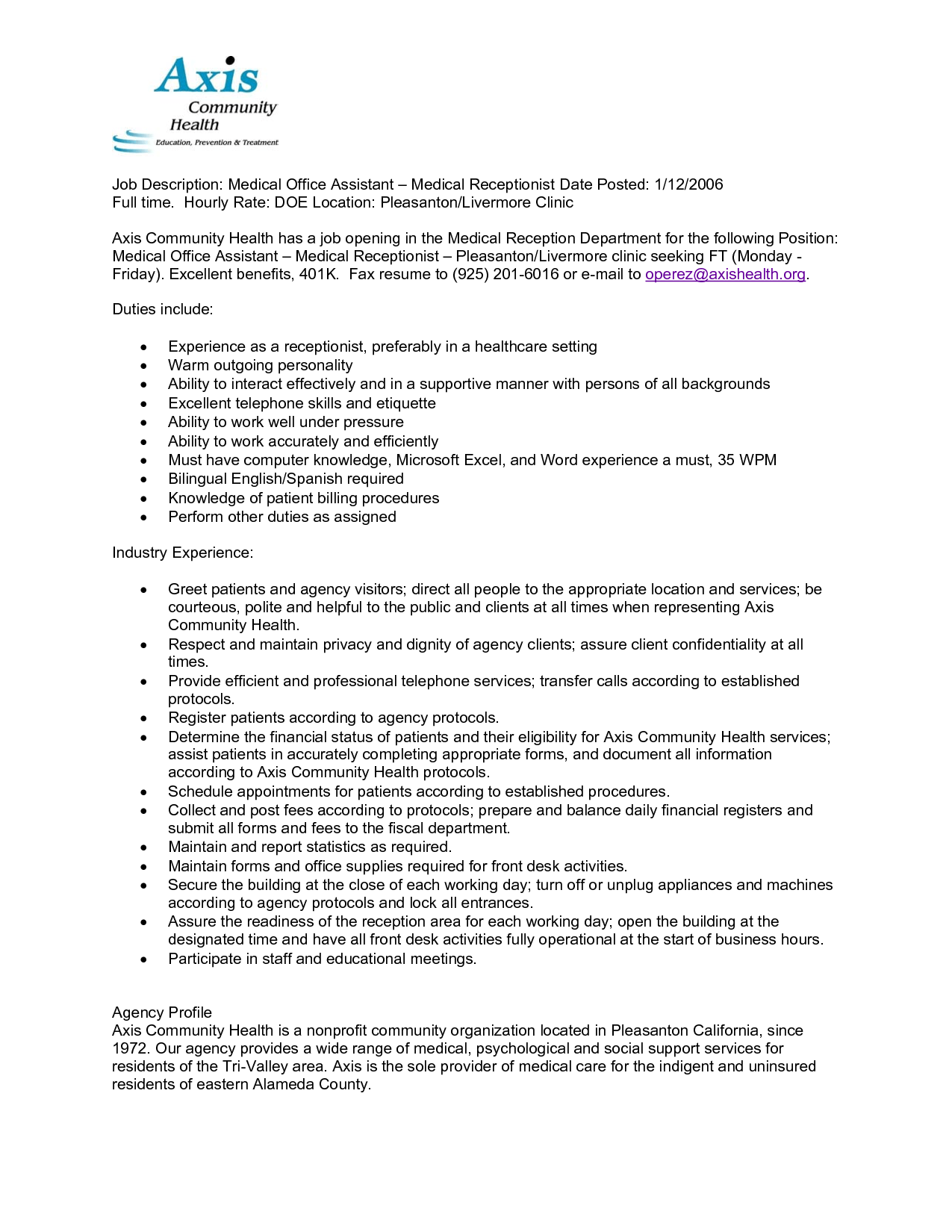 medical assistant back office duties