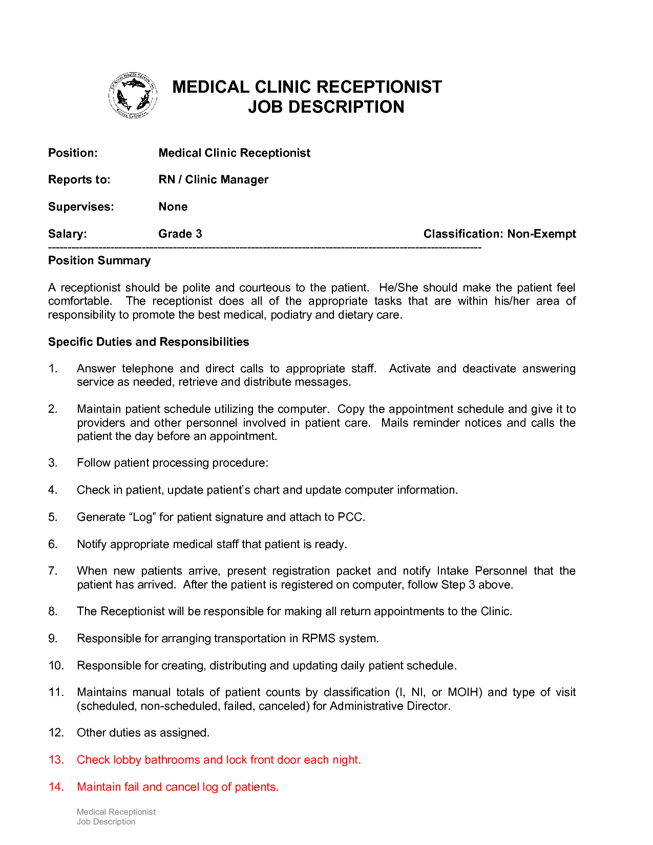 Medical Assistant Receptionist Resume 10 Example Resume Receptionist Job Description
