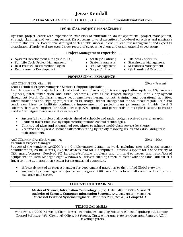 Project manager resume objective examples microsoft word jk technical project manager project manager resume yelopaper Choice Image