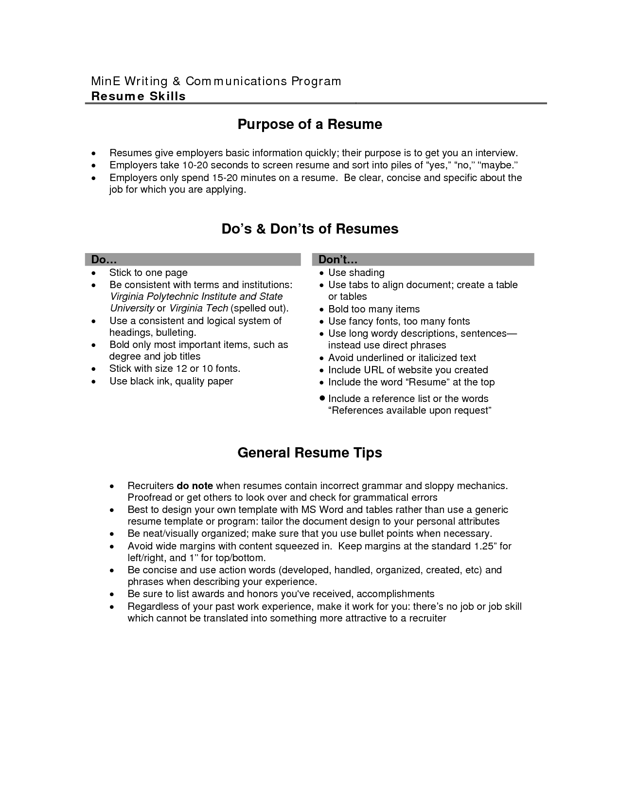 resume examples for objective - Example Of Objective In Resume