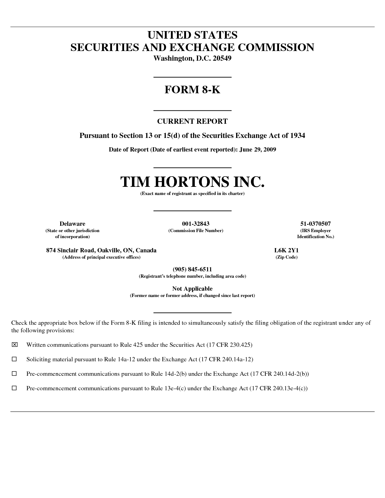 Tim hortons resume example