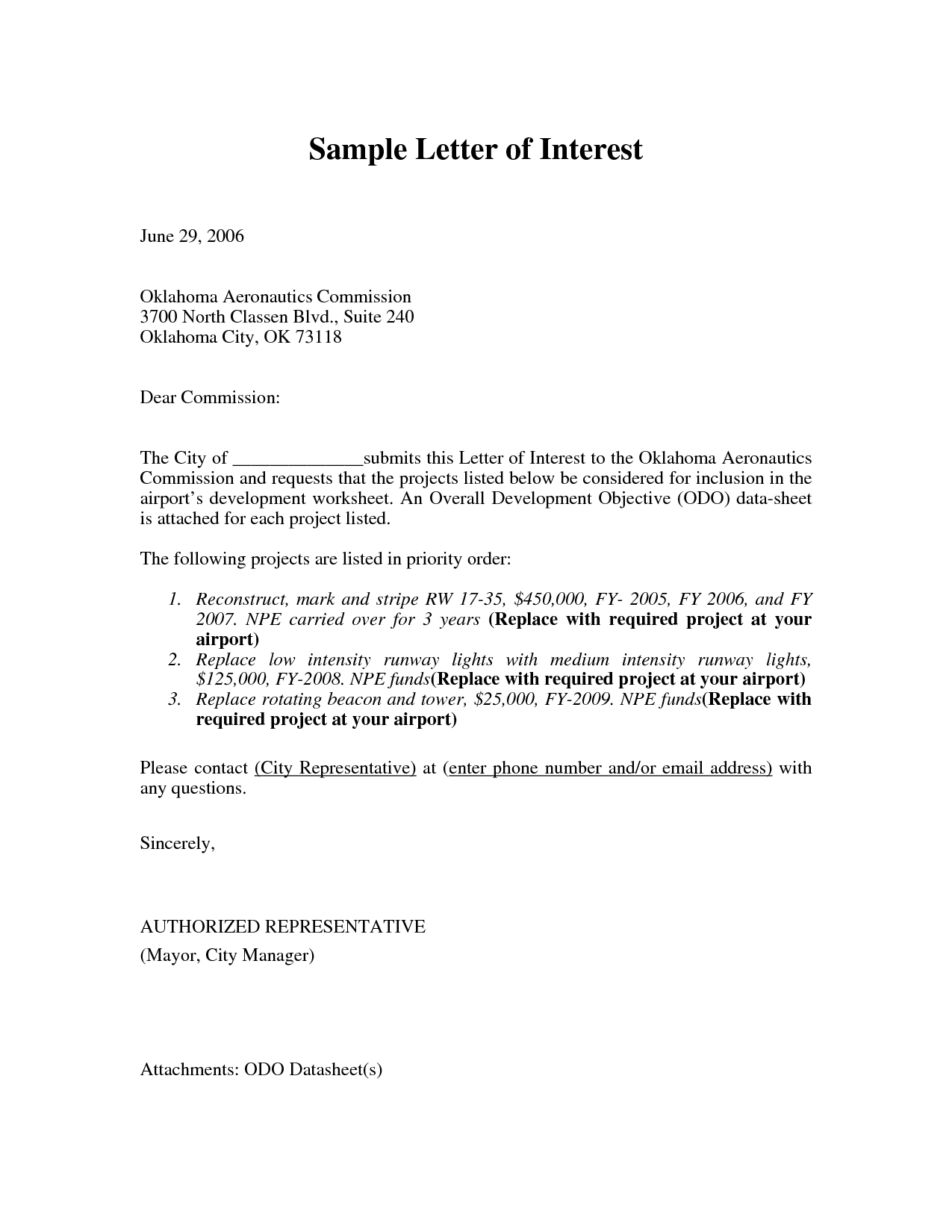 resume letter of interest - April.onthemarch.co