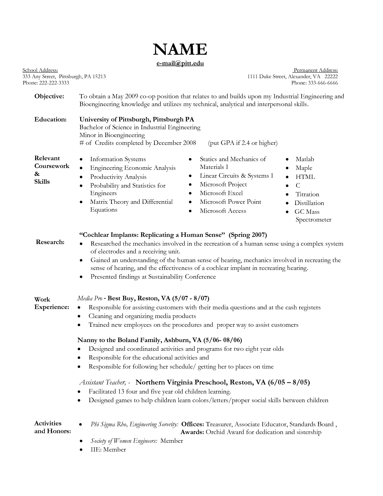 Nanny Resume Example Perfect Tips Write Nanny Resume Sample