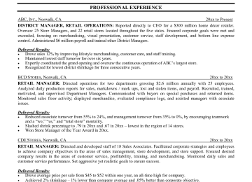 Retail Management Resume Examples Objective
