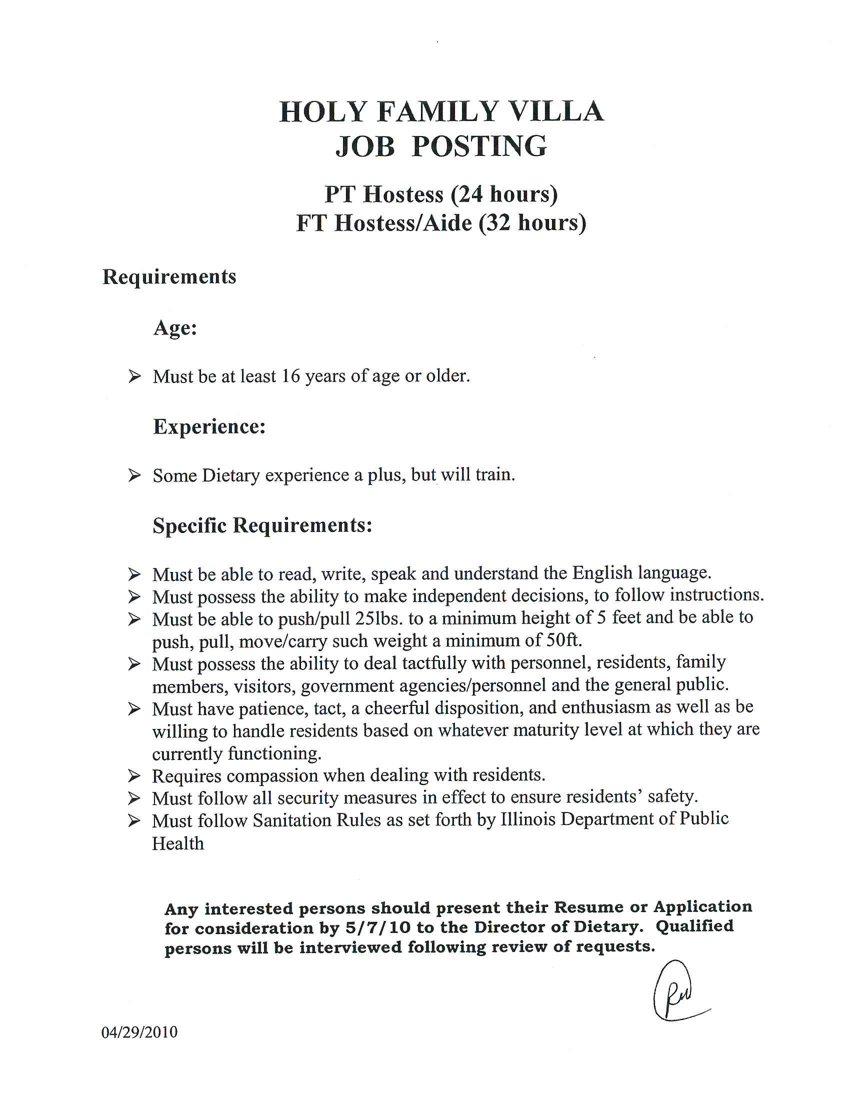 Resume For Dietary Aide Dietary Aide Job Description For Resume