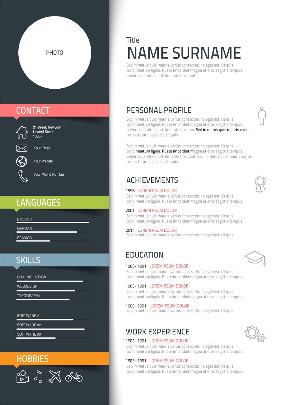sample simple resume printable