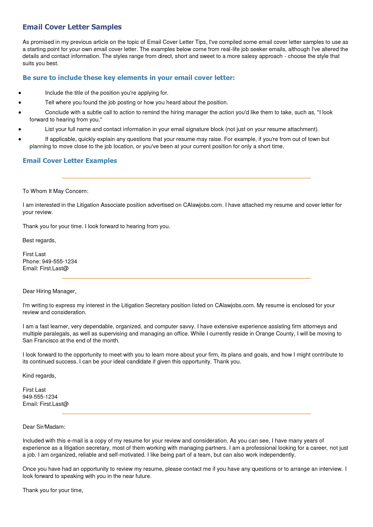 Ra Resume 12 Tips For Better Email Cover Letters