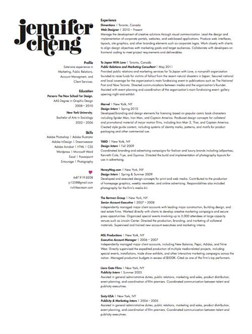 Design Resume Example  Examples Of Resumes